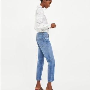 95853658 Zara Jeans - Zara Slim Boyfriend Malibu Blue Jeans Sz 27 4US